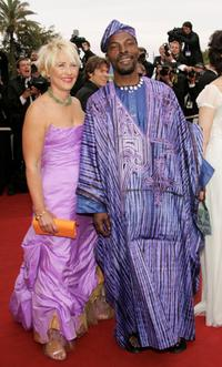 Isaach de Bankole and Guest at the screening of