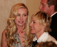 Ellen DeGeneres and Portia de Rossi at the 34th Annual Daytime Emmy Awards.