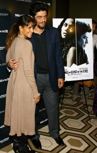 Benicio Del Toro and Halle Berry at the premiere of