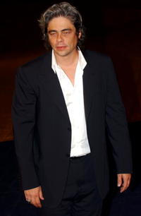 "Benicio Del Toro at the screening of ""21 Grams"" at the 60th Venice Film Festival in Venice, Italy."