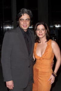 Benicio del Toro and Marcia Gay Harden at the New York Film Critics Circle Awards in New York.
