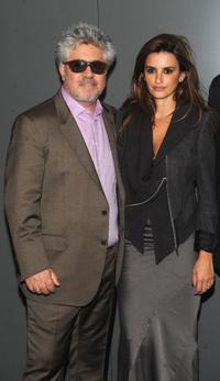 Pedro Almodovar and Penelope Cruz at the New York premiere of