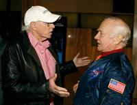 Bruce Dern and astronaut Buzz Aldrin at the premiere of Warner Bros Pictures