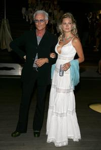 Michael Des Barres and Anushka Digiorgio at the opening of