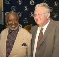 Clarence Avant and Randy Newman at the Los Angeles Chapter of the Recording Academy's 2003 Membership Awards luncheon in California.