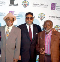 Billy Paul, producer Kenny Gamble and Clarence Avant at the Sony Club in New York.