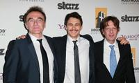 Danny Boyle, James Franco and producer Christian Colson at the 14th Annual Hollywood Awards Gala.