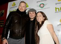 Randall Miller, Freddy Rodriguez and Jody Savin at the world premiere party of