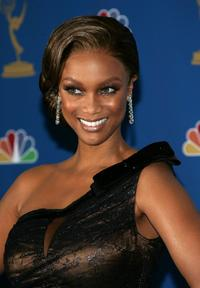 Tyra Banks at the 58th Annual Primetime Emmy Awards.