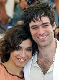 Lubna Azabal and Romain Duris at the photocall of