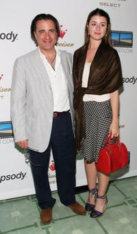 Andy Garcia and his daughter Dominique Garcia at the re-launch Of Triggerstreet.com.