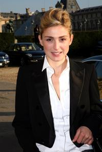 Julie Gayet at the Hermes fashion show during the Spring/ Summer 08 fashion week.