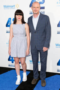 Toby Huss and Guest at the California premiere of