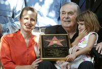 James Doohan, Wende and Sarah recieves at the star on the Hollywood Walk of Fame August 31, 2004 in Los Angeles.