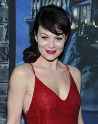 Helen McCrory at the grand opening of Harry Potter: The Exhibition at Discovery Times Square Exposition Center in New York.
