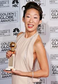 Sandra Oh at the Emmy Nominee Reception gor Outstanding Talent.