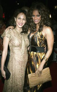 Nicole Ari Parker and Tyra Banks at the premiere of