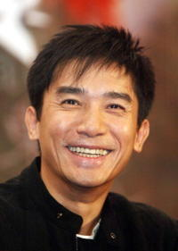 "Tony Leung at a press conference for ""2046"" in Beijing, China."