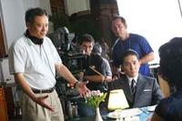 Director Ang Lee (left) and Tony Leung Chiu-Wai (right) on the set of