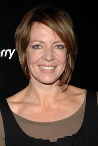 Allison Janney at Verizon's launch of the new Blackberry Pearl 8130 Smartphone.