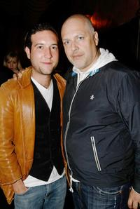 Christopher Marquette and producer Sam Maydew at the after party of the screening of