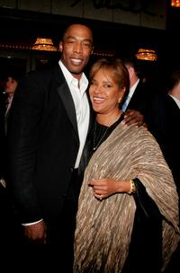 Michael McElroy and Phylicia Rashad at the Broadway opening of