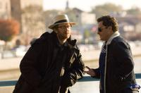 Director James Gray and Joaquin Phoenix on the set of
