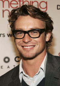 Simon Baker and Rebecca Rigg at the Australians In Film party for Australian actors in the 2008/2009 television season.