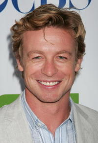 Rachel Griffiths and Simon Baker at the Australians In Film party for Australian actors in the 2008/2009 television season.