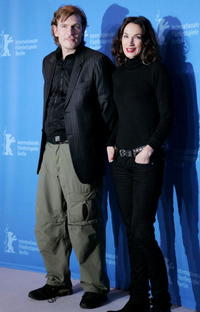 Guillaume Depardieu and Jeanne Balibar at the 57th Berlin International Film Festival.