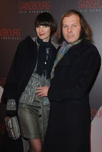 Jeanne Balibar and Philippe Catherine at the premiere of