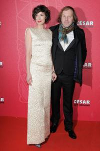 Jeanne Balibar and Philippe Katherine at the Cesar Film Awards 2009.