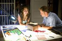 Miley Cyrus and Greg Kinnear in
