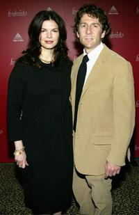 Jeanne Tripplehorn and Leland Orser at the Frederick's of Hollywood Fall 2003 fashion show and auction.