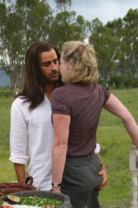 Justin Theroux and Gretchen Mol in