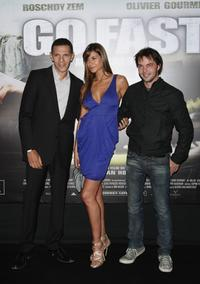 Roschdy Zem, Catalina Denis and Director Olivier Van Hoofstadt at the premiere of
