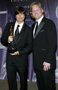 Thomas Newman and Andrew Stanton at the 17th Annual Palm Springs International Film Festival Gala.