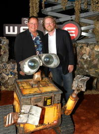Producer John Lasseter and Andrew Stanton at the world premiere of