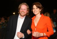 Andrew Stanton and Sigourney Weaver at the after party of the world premiere of