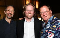 Ed Catmull, Andrew Stanton and Producer John Lasseter at the world premiere of