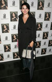 Karen Duffy at the Lucy Lius art exhibit and auction.