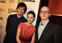 Bill Hader, Kristen Stewart and Greg Mottola at the red carpet of