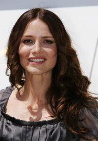 Saffron Burrows at a photocall for