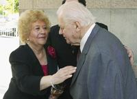 Charles Durning and Charlotte Rae at the 2004 Actors' Fund/Variety Tony Awards Party.