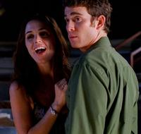 Eliza Dushku as City Hall and Bryan Greenberg as Barkley Michaelson in