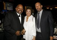 Charles S. Dutton, Randy Fletcher and guest at the 59th annual Directors Guild of America Awards held at Hyatt Regency Century Plaza.