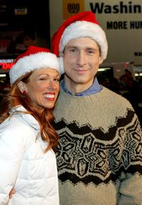 Carolee Carmello and Gregg Edelman at the Broadway holiday tree lighting.