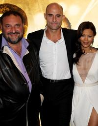 Joel Silver, Mark Strong and Thandie Newton at the world premiere of