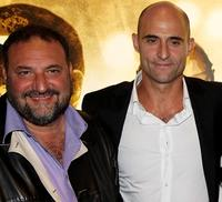Joel Silver and Mark Strong at the world premiere of