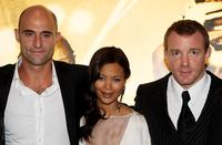 Mark Strong, Thandie Newton and Guy Ritchie at the world premiere of